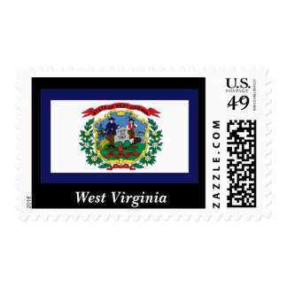 West Virginia State Flag Postage Stamp