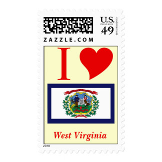 West Virginia State Flag Postage Stamps