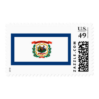 West Virginia State Flag Postage Stamp