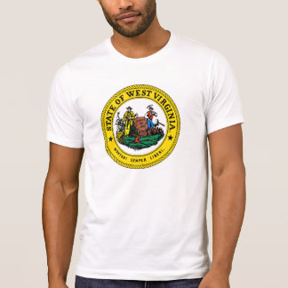 West Virginia state flag seal united america count T-Shirt