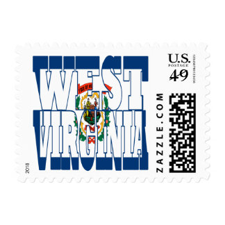 West virginia state flag text postage