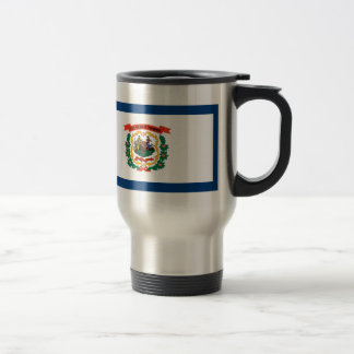 West Virginia State Flag Travel Mug