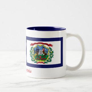 West Virginia State Flag Two-Tone Coffee Mug