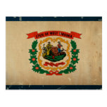 West Virginia State Flag VINTAGE Postcard