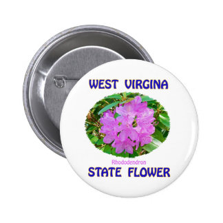 West Virginia State Flower T-Shirts & Gifts Button