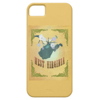 West Virginia State Map- Passion Fruit Yellow iPhone 5 Covers