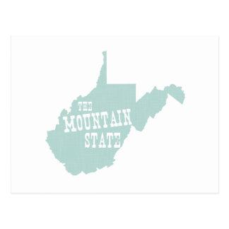 West Virginia State Motto Slogan Postcard