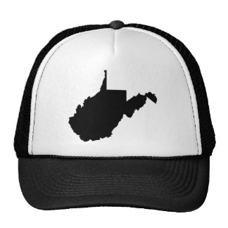 West Virginia State Outline Trucker Hat