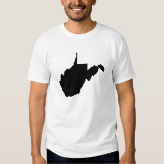 West Virginia State Outline T Shirt