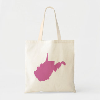 West Virginia State Outline Tote Bag
