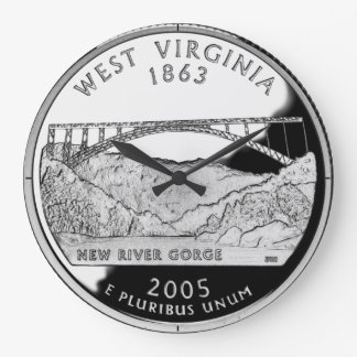 West Virginia State Quarter Clock