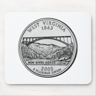 West Virginia State Quarter Mouse Pad