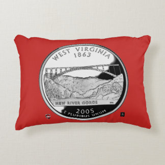 WEST VIRGINIA STATE QUARTER PILLOW