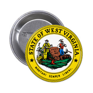 West Virginia State Seal Button