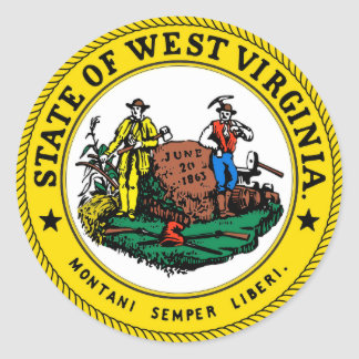 West Virginia State Seal Classic Round Sticker