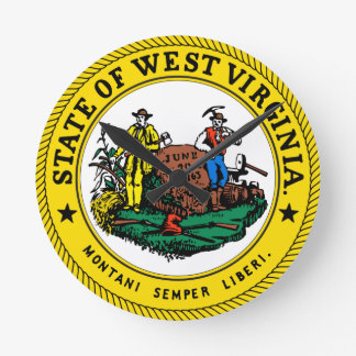 West Virginia State Seal Clock