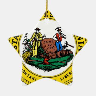 West Virginia state seal.jpg Ceramic Ornament