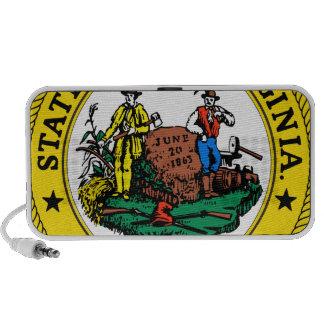 West Virginia State Seal Mp3 Speakers