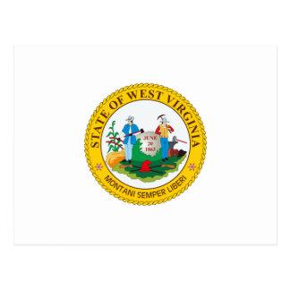 West Virginia State Seal Postcard