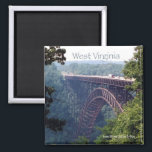 """West Virginia State Travel Photo Fridge Magnet<br><div class=""""desc"""">Refrigerator magnets picture a lovely scene in West Virginia,  USA.</div>"""