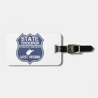 West Virginia State Trooper Protect And Serve Bag Tag
