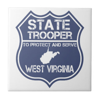 West Virginia State Trooper Protect And Serve Ceramic Tile