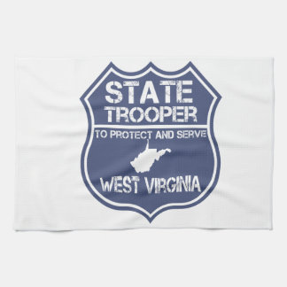 West Virginia State Trooper Protect And Serve Hand Towels