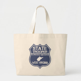 West Virginia State Trooper Protect And Serve Large Tote Bag