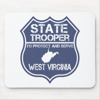 West Virginia State Trooper Protect And Serve Mouse Pad