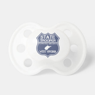 West Virginia State Trooper Protect And Serve BooginHead Pacifier