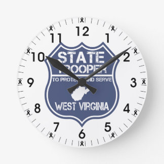 West Virginia State Trooper Protect And Serve Round Clock