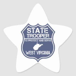 West Virginia State Trooper Protect And Serve Star Sticker