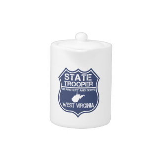 West Virginia State Trooper Protect And Serve Teapot