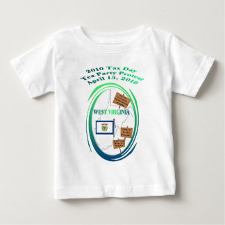 West Virginia Tax Day Tea Party Protest Baby T-Shirt