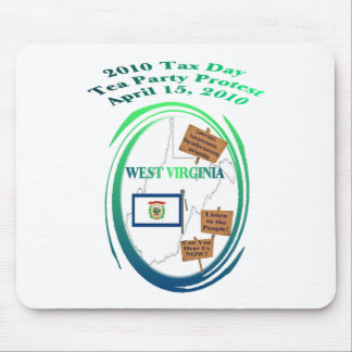 West Virginia Tax Day Tea Party Protest Mouse Pad