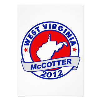 West Virginia Thad McCotter Personalized Announcements