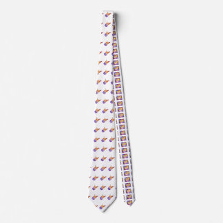 West Virginia U.S. State in watercolor text cut Neck Tie