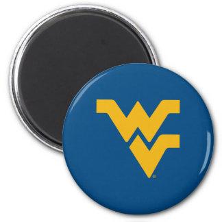 West Virginia University 2 Inch Round Magnet