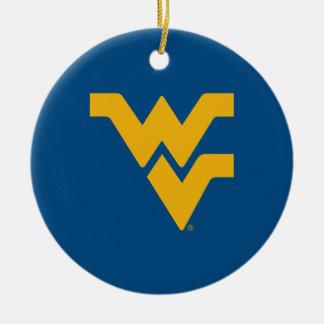 West Virginia University Ceramic Ornament