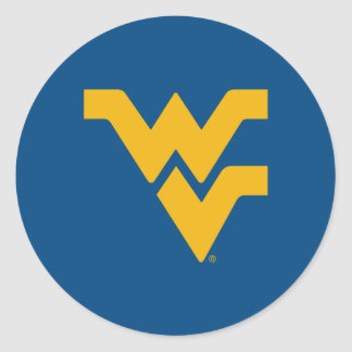 West Virginia University Classic Round Sticker