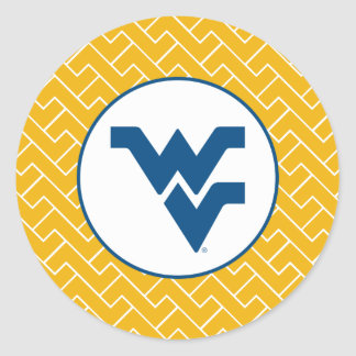 West Virginia University Flying WV Classic Round Sticker