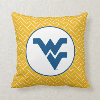 West Virginia University Flying WV Throw Pillow
