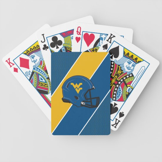 West Virginia University Helmet Bicycle Playing Cards