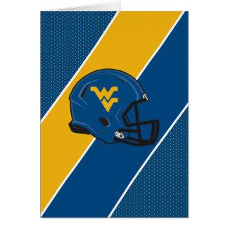 West Virginia University Helmet Card