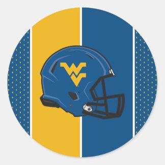 West Virginia University Helmet Classic Round Sticker