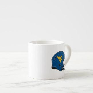 West Virginia University Helmet Espresso Cup