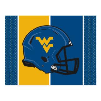 West Virginia University Helmet Postcard