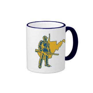 West Virginia University Mountaineers Ringer Mug