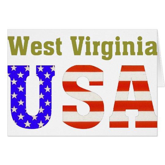 West Virginia USA! Card