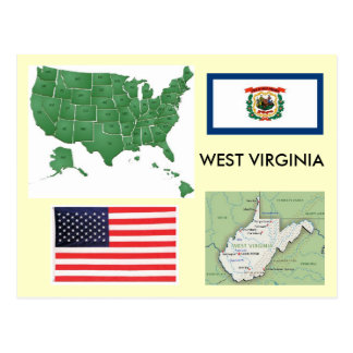 West Virginia, USA Postcard